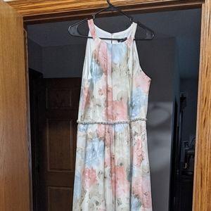 SLNY maxi dress